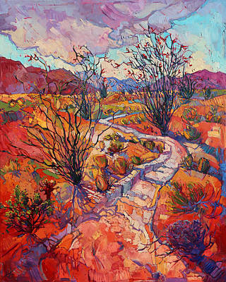 Painting - Ocotillo Blooms by Erin Hanson
