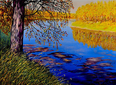 Painting - October Afternoon by Sher Nasser