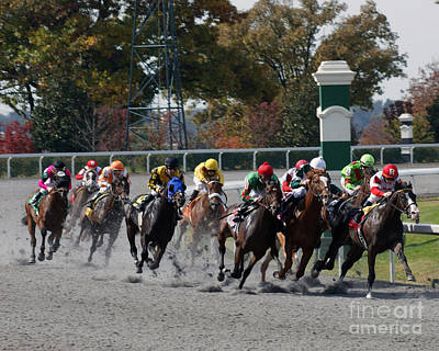 Keeneland Photograph - October Tradition by Roger Potts