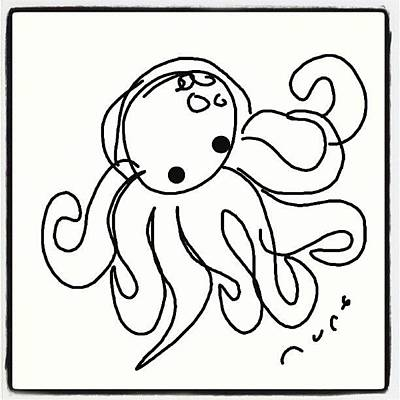 Octopus Photograph - #octopus #cartoon #caricatures #sketch by Nuno Marques