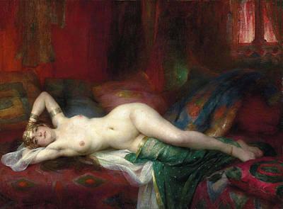 Henri Adrien Tanoux Painting - Odalisque by Henri Adrien Tanoux