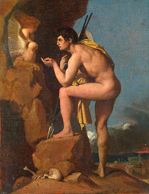 Painting - Oedipus And The Sphinx by Jean-Auguste-Dominique Ingres
