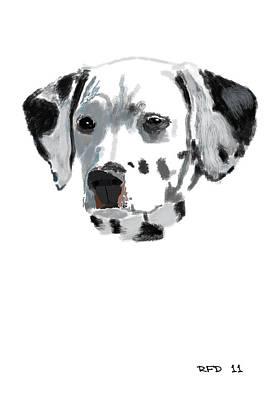 Raiser Digital Art - 1 Of 101 Dalmations by Bob Donner
