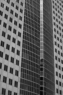 City Life In Montreal Photograph - Office Towers  Montreal, Quebec, Canada by David Chapman