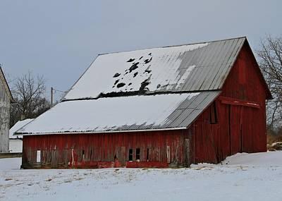 Ohio Barn In Winter Art Print