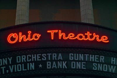 Ohio Theater Marquee Theater Sign Art Print