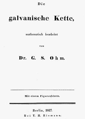 Ohm's Law, 1827 Art Print
