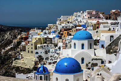 Blue Door Greece Photograph - Oia, Santorini, Greece by Jolly Sienda