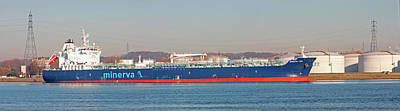 Tanker Wall Art - Photograph - Oil And Chemical Tanker by Alex Bartel/science Photo Library