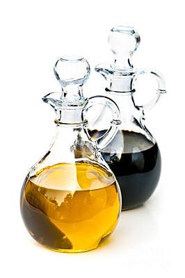 Decanter Photograph - Oil And Vinegar by Elena Elisseeva