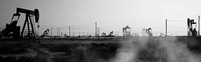 Oil Well Photograph - Oil Drills In A Field, Maricopa, Kern by Panoramic Images
