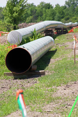 Replacing Photograph - Oil Pipeline Construction by Jim West