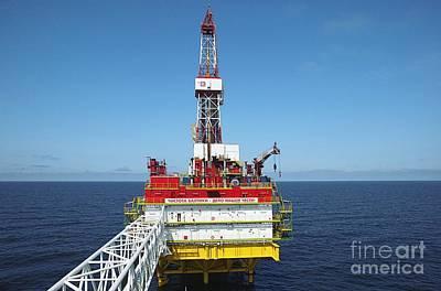 Oil Production Rig, Baltic Sea Art Print