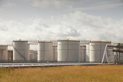 Oil Storage Depot Art Print by Ashley Cooper