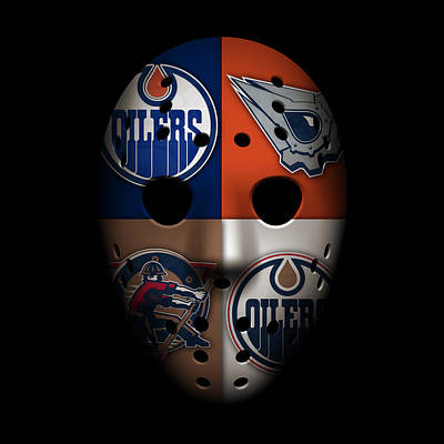 Oilers Photograph - Oilers Goalie Mask by Joe Hamilton