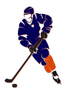 Edmonton Oilers Photograph - Oilers Shadow Player by Joe Hamilton