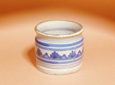 Ointment Photograph - Ointment Pot by Science Photo Library