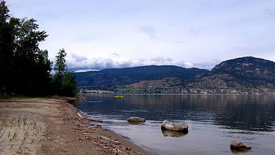 Art Print featuring the photograph Okanagan Lake - Kayaking by Guy Hoffman