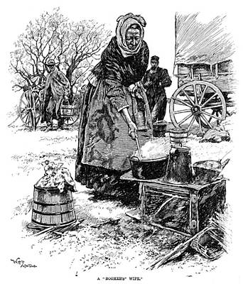 Cook Drawings Drawing - Oklahoma Boomer, 1889 by Granger