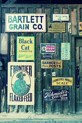 Texaco Wall Art - Photograph - Old Advertising Signs Posted by Panoramic Images