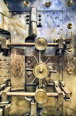 Oregon Photograph - Old Bank Vault In Historic Building by David Gn