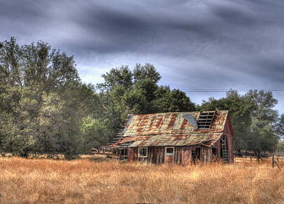 Photograph - Old Barn by Judith Szantyr