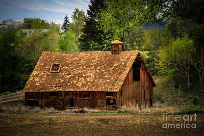 Haybales Photograph - Old Barn by Robert Bales