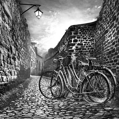 Chateau Photograph - Old Bicycles On A Sunday Morning by Debra and Dave Vanderlaan