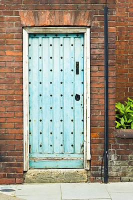 Door Photograph - Old Blue Door by Tom Gowanlock
