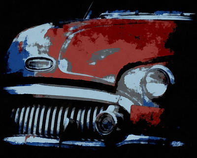 Digital Art - Old Buick by Ernie Echols