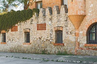 Old Buildings In Codorniu Winery In Sant Sadurni D'anoia Spain Art Print