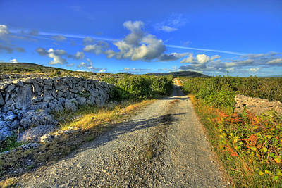 Burren Photograph - Old Burren Road by John Quinn