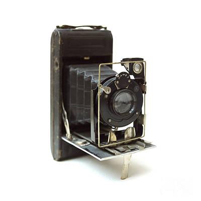 Old Camera Art Print by Bernard Jaubert