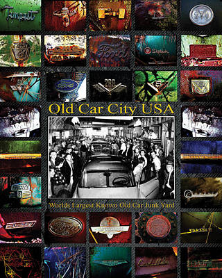 Photograph - Old Car City Usa Poster by Richard Erickson