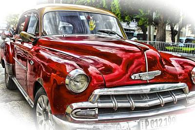 Photograph - Old Car In Cuba by Perry Frantzman