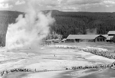 Old Faithful In Yellowstone National Park Art Print