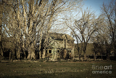 Sepia Vintage Farmhouse Photograph - Old Farm House by Robert Bales