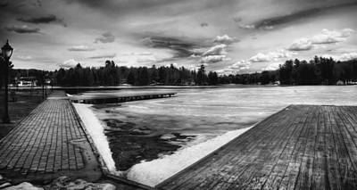 Winter Scene And Lake Photograph - Old Forge Pond In The Adirondacks by David Patterson