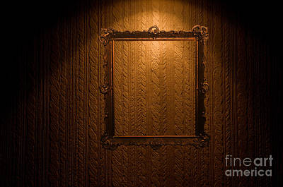 Furniture Photograph - Old Frame On Retro Wall by Michal Bednarek