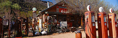 Old Frontier Gas Station, Embudo, New Art Print by Panoramic Images