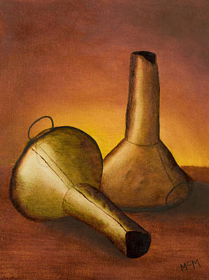 Painting - Old Funnels by Garry McMichael