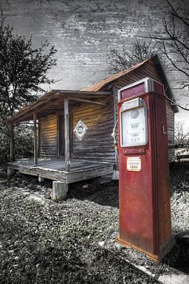 Quaker Photograph - Old Gas Pump by Debra and Dave Vanderlaan
