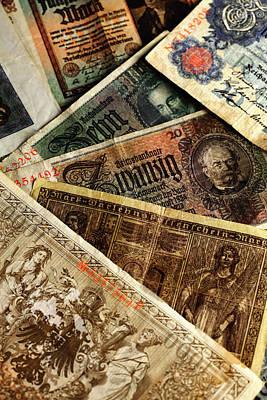Old German Banknotes Print by Falko Follert