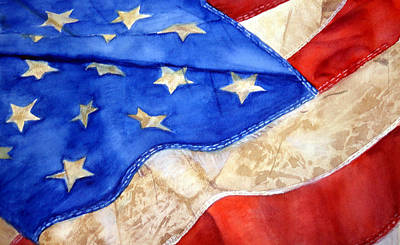 Painting - Old Glory by Lynne Atwood