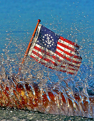 Photograph - Old Glory by Steven Lapkin