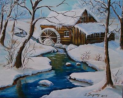Grist Mill Painting - Old Grist Mill  by Sharon Duguay