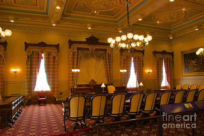 Photograph - Old House Of Delegates Room Of The Maryland State House by Mark Dodd