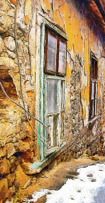 Medieval Style Painting - Old House Window by Odon Czintos