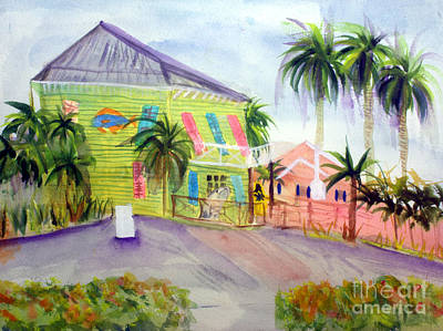 Old Key Lime House Art Print by Donna Walsh