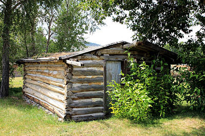 Photograph - Old Log Homestead by Athena Mckinzie